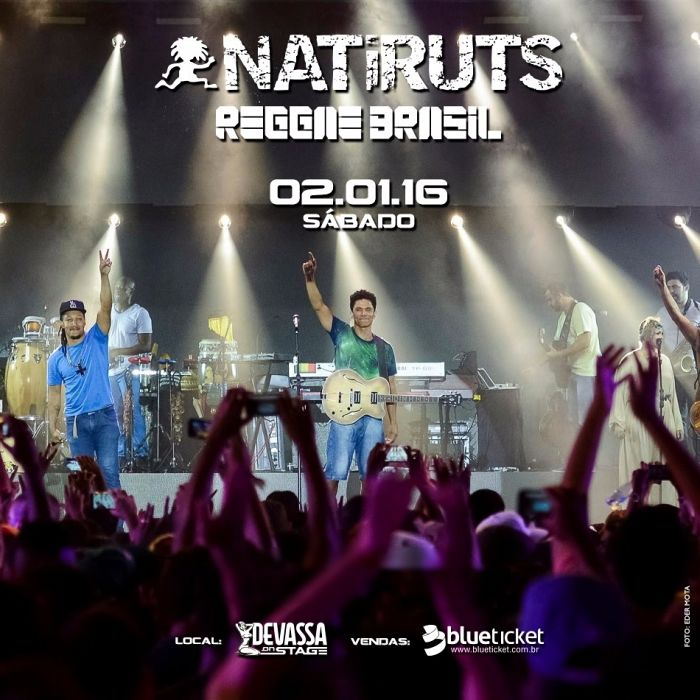 Natiruts faz show de lançamento do DVD Natiruts Reggae Brasil