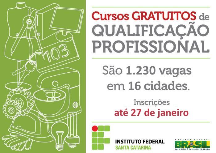 Inscrições para 1.230 vagas em cursos gratuitos de qualificação