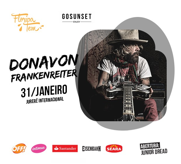 Show gratuito com Donavon Frankenreiter no Floripa Tem