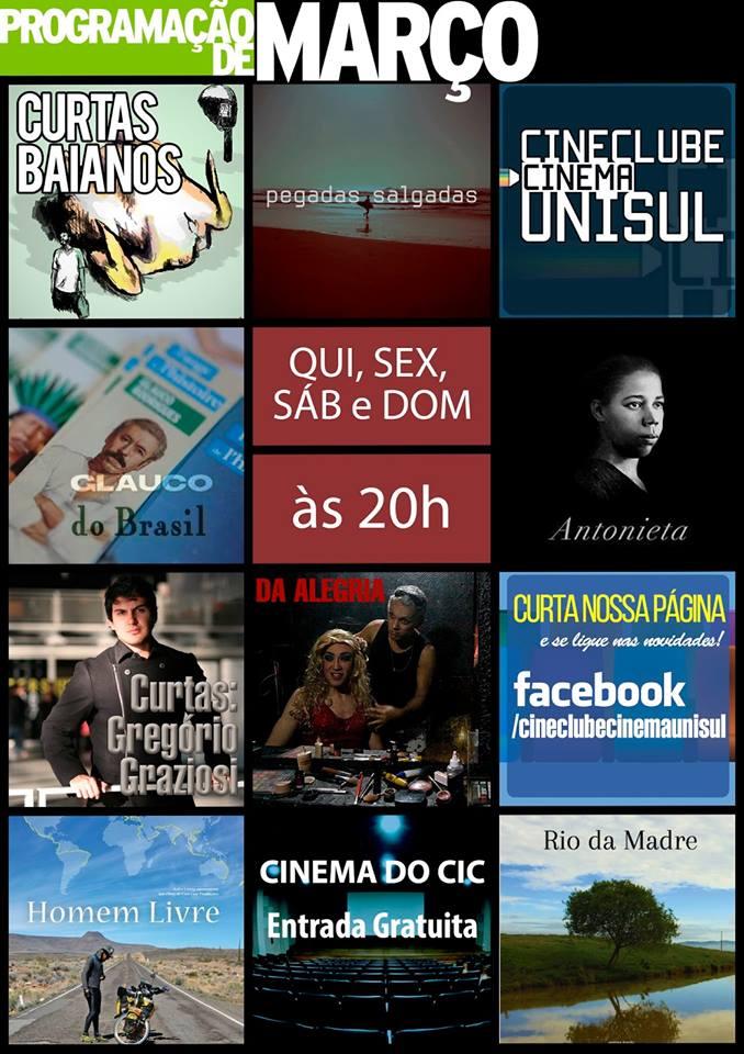 Cinema do CIC - Programação do mês de março de 2016