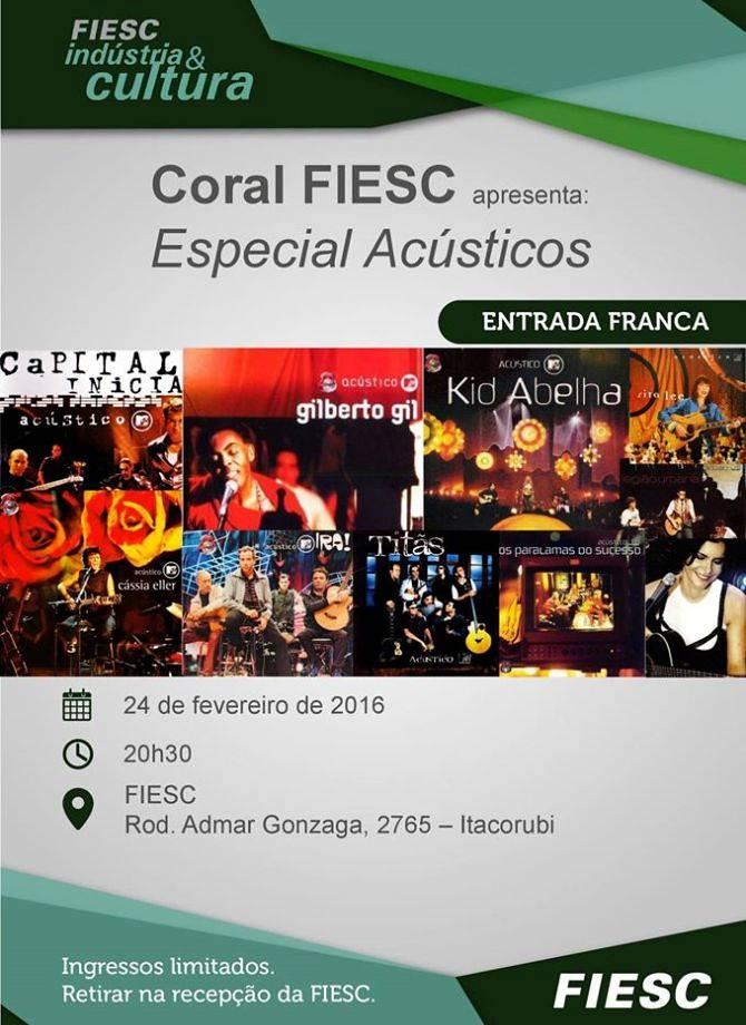 Coral FIESC apresenta Especial Acústicos - FIESC Indústria e Cultura