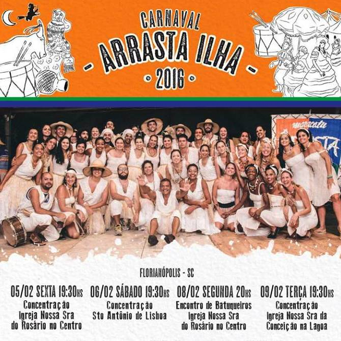 Carnaval do maracatu Arrasta Ilha 2016