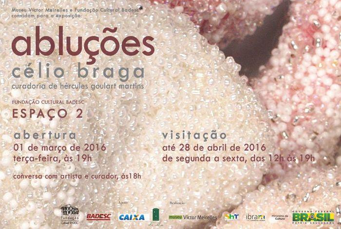 """Exposição """"Abluções"""" do artista mineiro Célio Braga"""
