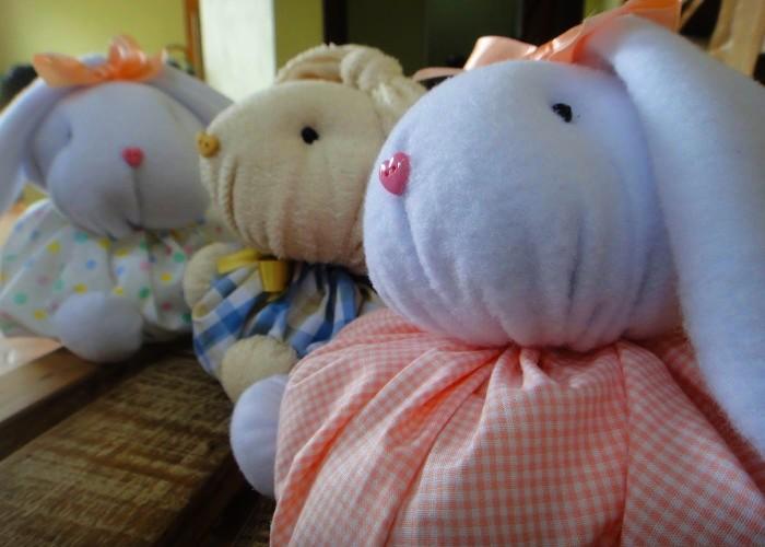 Oficina beneficente gratuita de coelhos de pano Páscoa Cultural - Doar para Receber