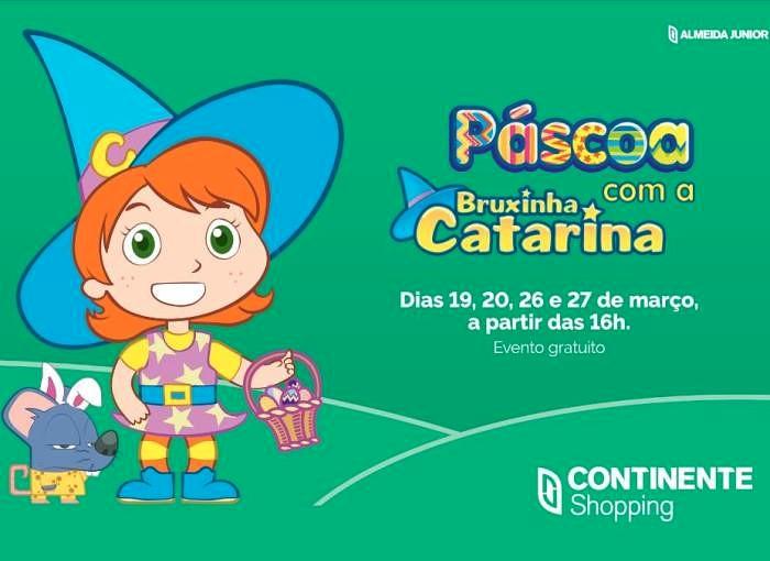 Páscoa traz apresentações gratuitas da Bruxinha Catarina e muitas brincadeiras