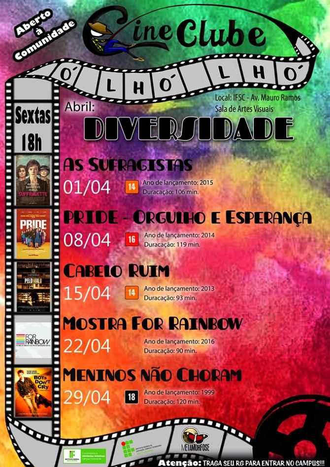 Ciclo Diversidade na programação de abril do Cineclube Ó Lhó Lhó