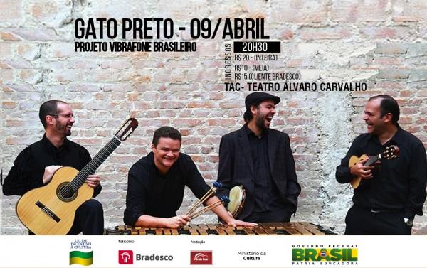 """Grupo de choro Gato Preto apresenta show """"Vibrafone brasileiro"""""""