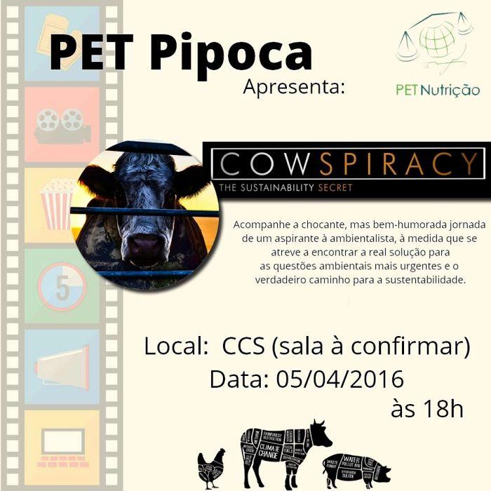 PET Nutrição exibe documentário sobre produção agropecuária e vegetarianismo