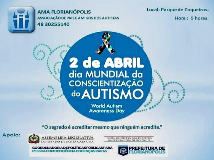 Dia Mundial de Conscientização pelo Autismo no Parque de Coqueiros