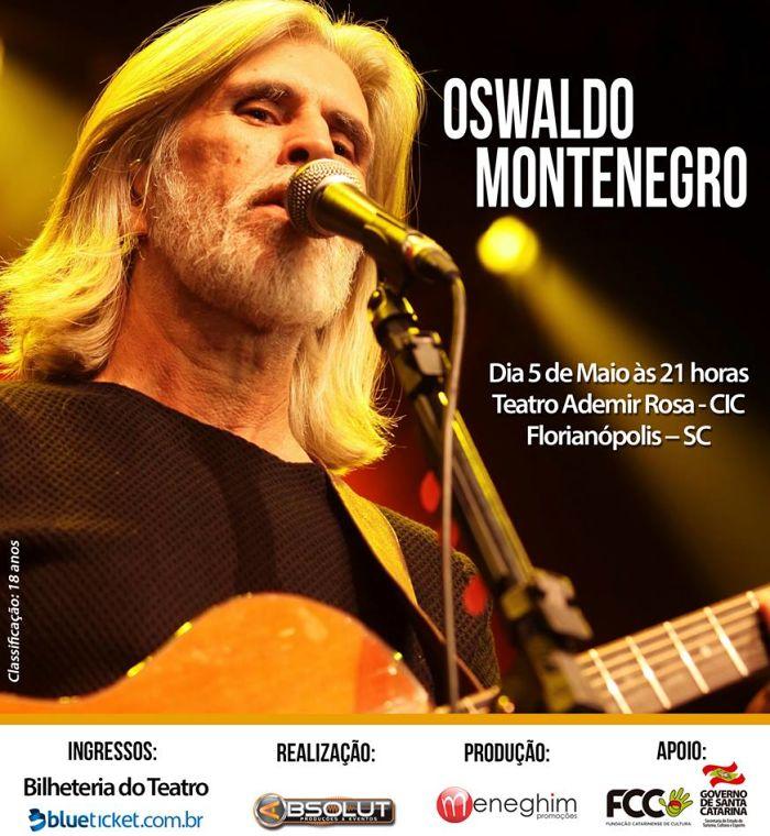 """Oswaldo Montenegro apresenta show """"Canção Nua"""""""