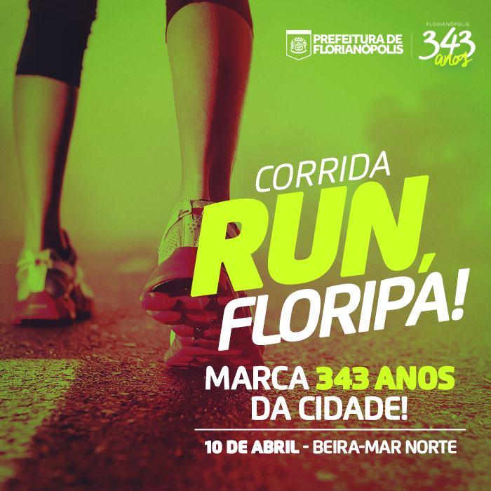 """Corrida """"Run, Floripa!"""" marca 343º aniversário de Florianópolis"""