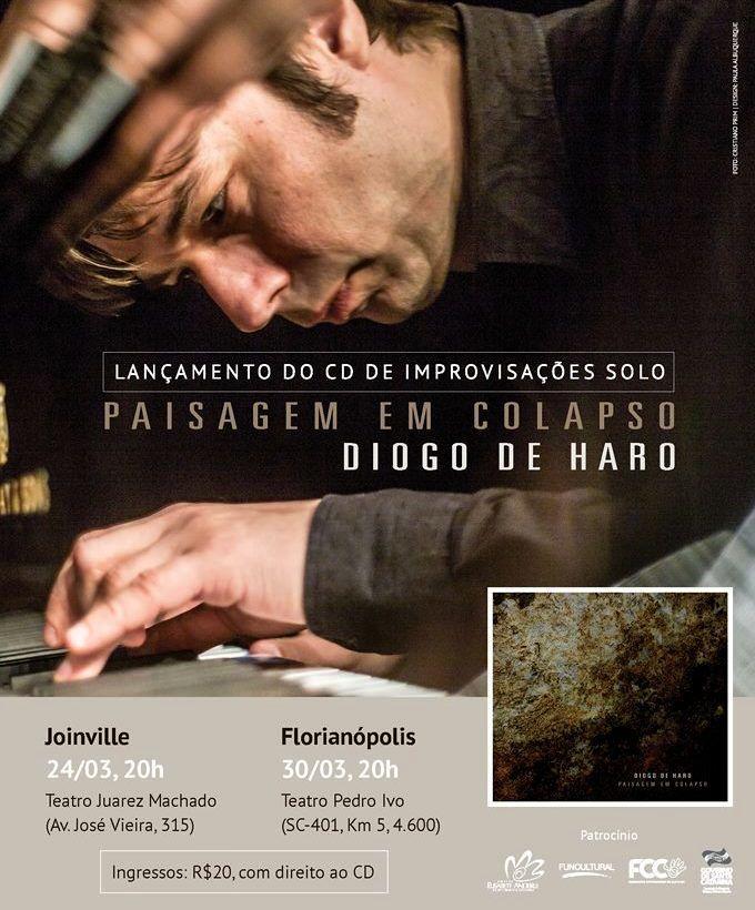 """Concerto de lançamento do CD """"Paisagem em Colapso"""" do pianista Diogo de Haro"""