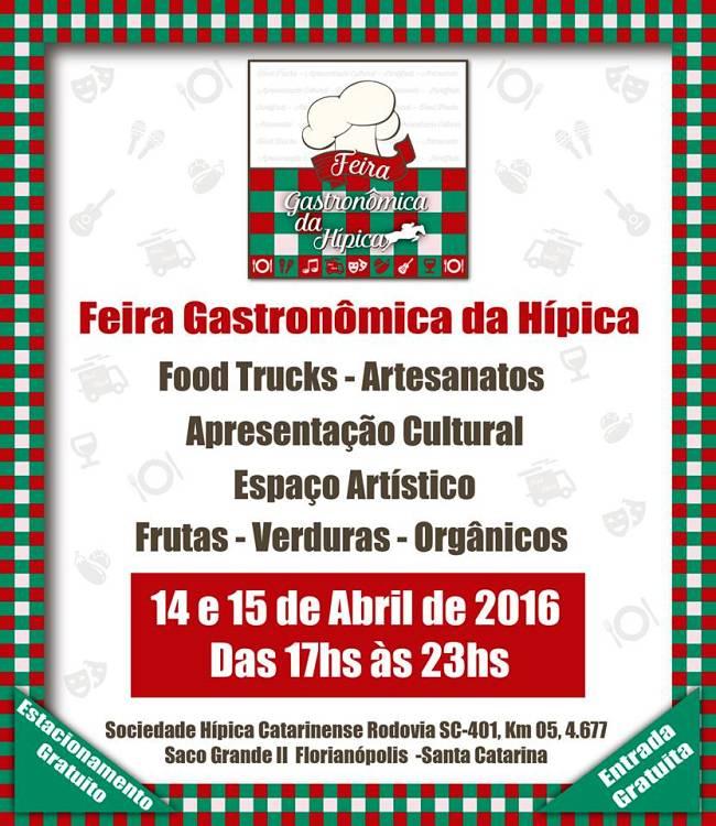Feira Gastronômica Da Hípica traz alimentação, música ao vivo, artesanato e peças teatrais, tudo gratuito