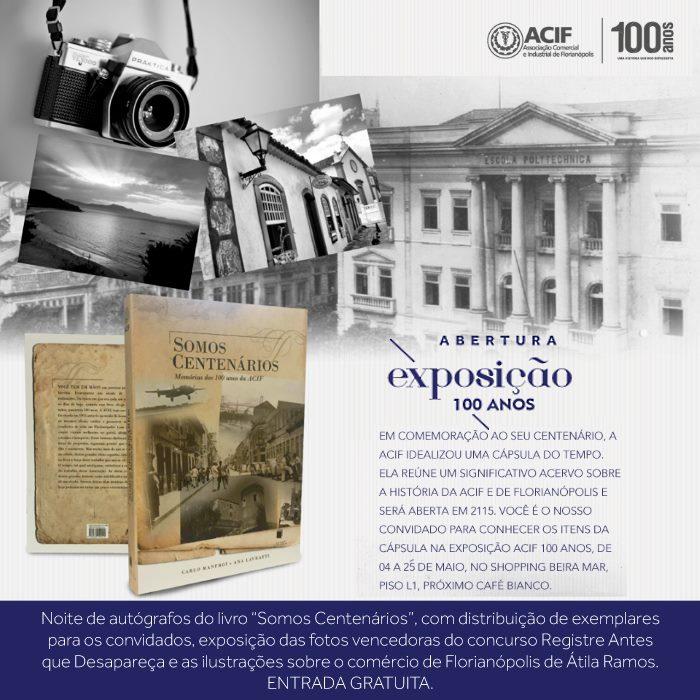 Exposição ACIF 100 anos lança cápsula do tempo com mensagens para o futuro