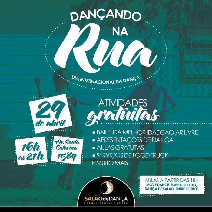 Dançando na Rua com Baile ao ar livre, aulas gratuitas e food truck - Dia Mundial da Dança