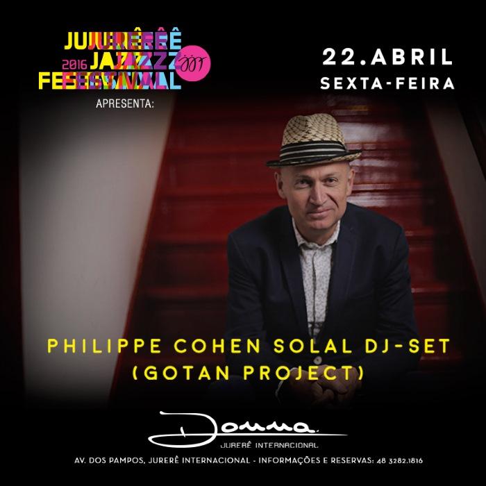 Jurerê Jazz Festival apresenta show de Philippe Cohen Solal