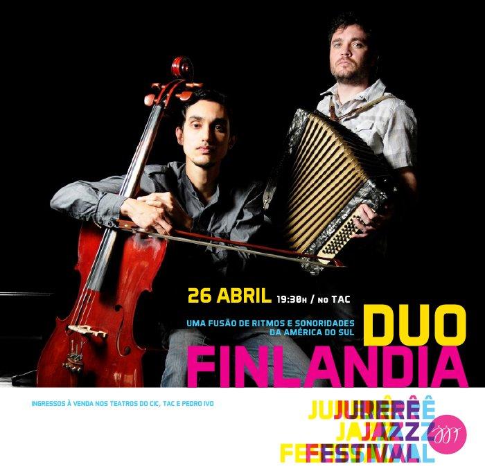 Jurerê Jazz 2016 apresenta Duo Finlândia no TAC 7:30