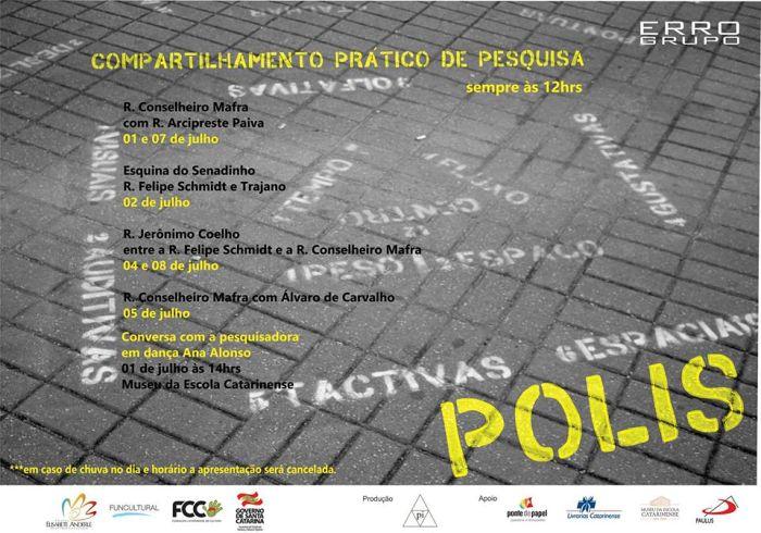 """ERRO Grupo traz jogo performático """"Polis"""" no espaço urbano"""