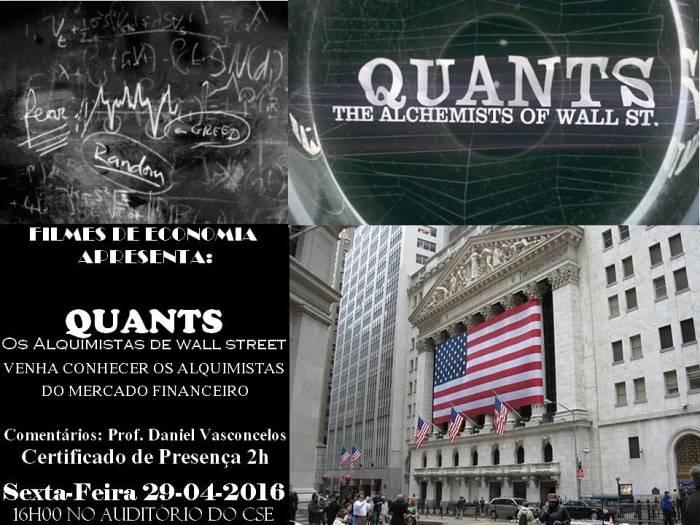 """Filmes de Economia debate documentário """"Quants: Os Alquimistas de Wall Street"""""""