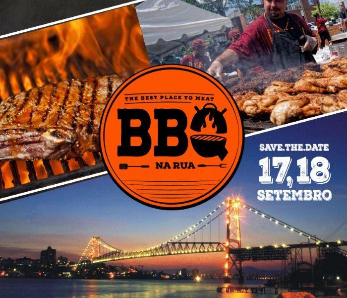 1º BBQ Na Rua - Festival Gastronômico de Churrasco, com 25 opções gastronômicas e cervejas artesanais