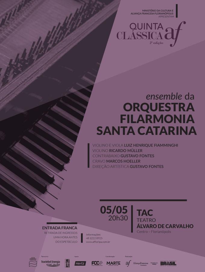 Concerto de música antiga da Orquestra Filarmonia Santa Catarina - 2ª Quinta Clássica AF