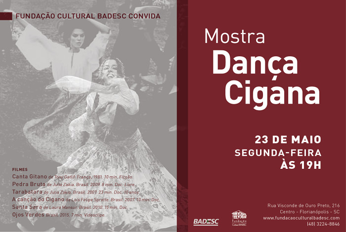 Mostra de curtas sobre o povo cigano com debate e pocket show de danças ciganas