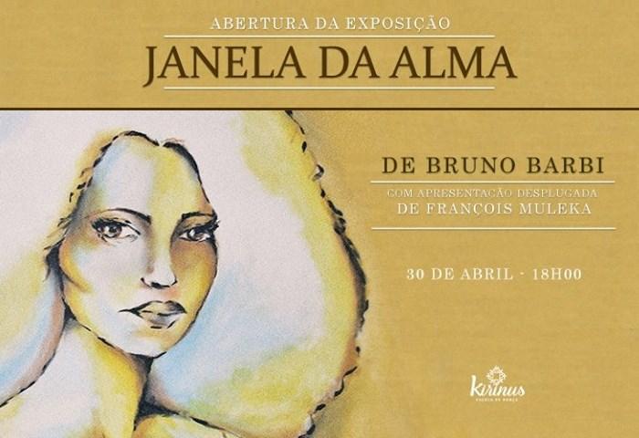 """Exposição """"Janela da Alma"""" de Bruno Barbi e apresentação de François Muleka"""