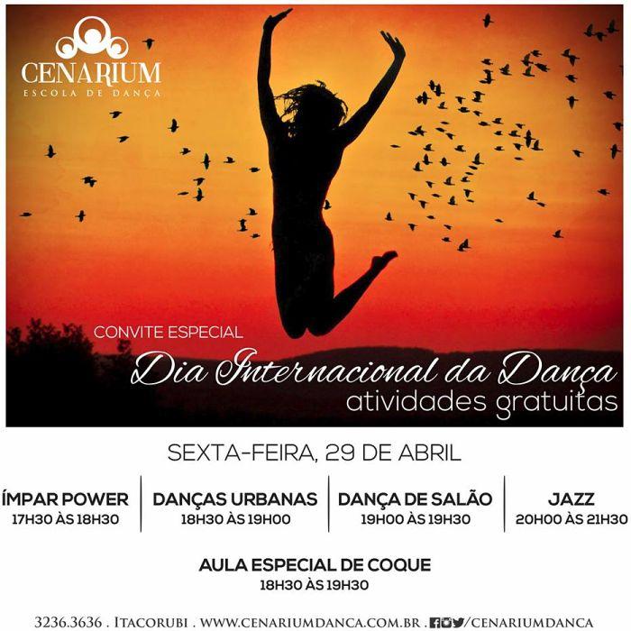 Cenarium comemora Dia Internacional da Dança com aulas gratuitas ao ar livre