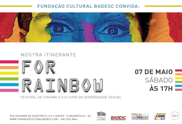 Festival de Cinema e Cultura da Diversidade Sexual For Rainbow no Cineclube Badesc
