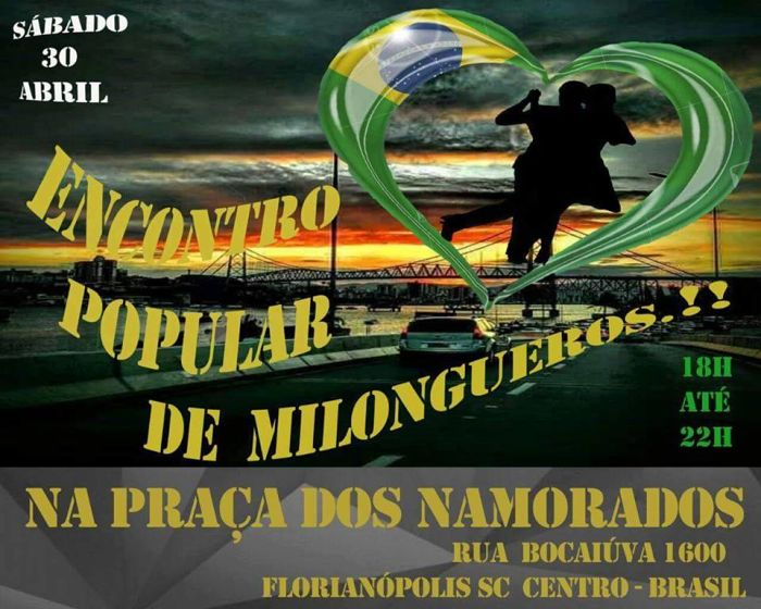 3° Encontro Popular de Milongueros ao ar livre na Praça Dos Namorados