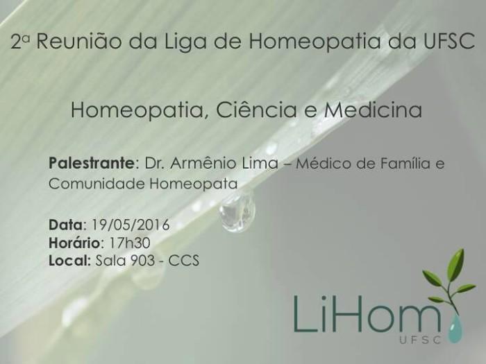 Palestra aberta sobre Homeopatia, Ciência e Medicina na UFSC