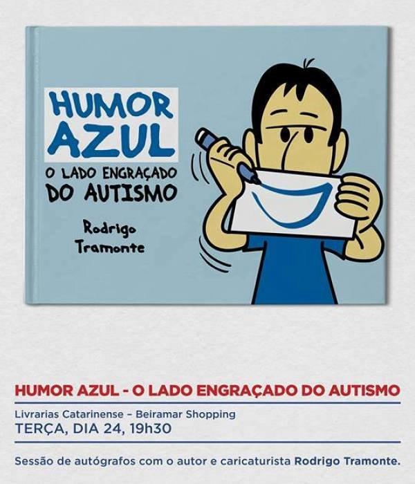 """Sessão de autógrafos do livro """"Humor Azul - O Lado Engraçado do Autismo"""""""