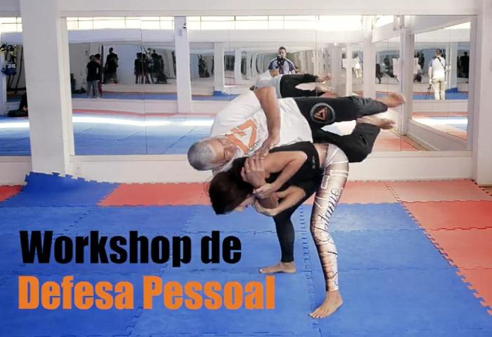 Aula gratuita de defesa pessoal para mulheres com faixa preta de jiu-jitsu