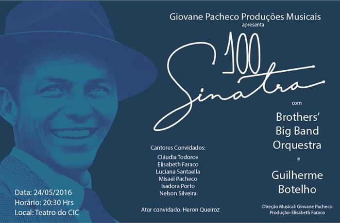 "Espetáculo musical ""100 Sinatra"" marca centenário de Frank Sinatra"