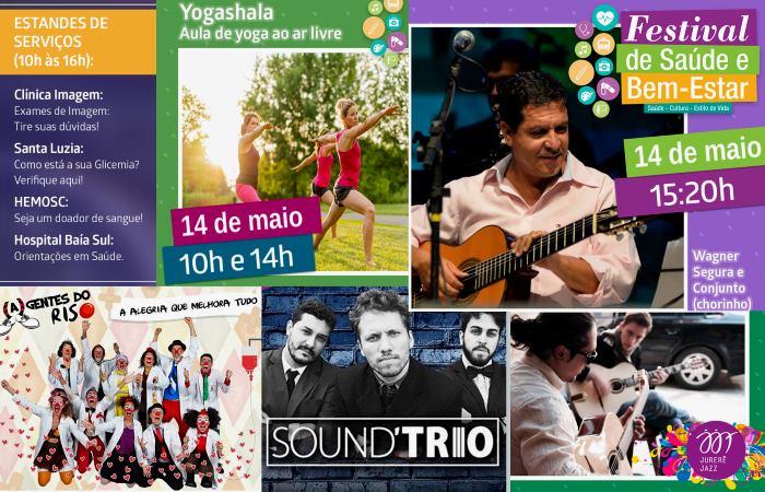 1º Festival da Saúde e Bem-Estar com shows, exposições, Yoga e academia ao ar livre