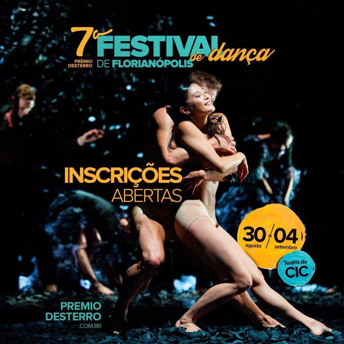 Inscrições para o Prêmio Desterro – 7° Festival de Dança de Florianópolis