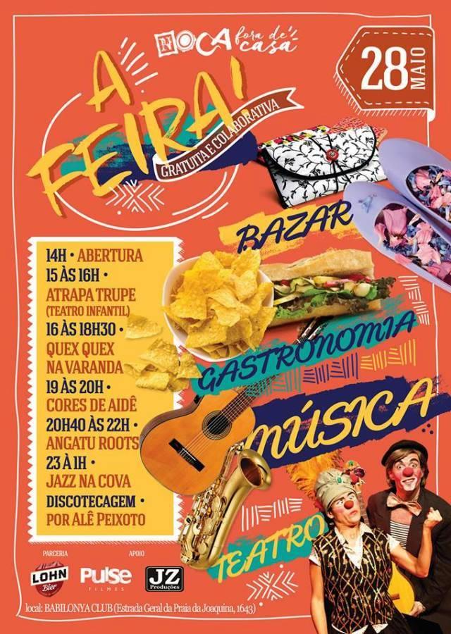 Noca Fora de Casa - A Feira! gratuita e multicultural com teatro, música e gastronomia