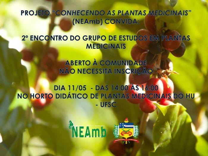 2º Encontro do Grupo de Estudos em Plantas Medicinais, gratuito e sem inscrição
