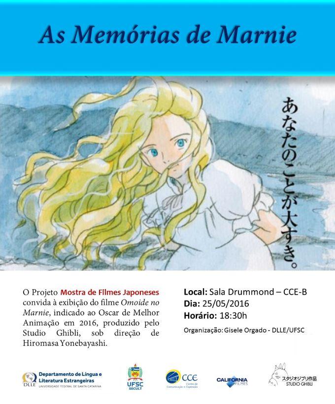 """Mostra de Filmes Japoneses exibe """"As Memórias de Marnie"""", animação indicada ao Oscar"""