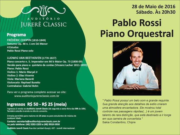 "Pablo Rossi apresenta ""Piano Orquestral"" com peças de Beethoven e Chopin"