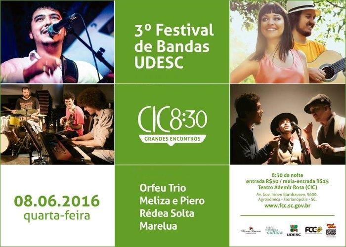 3º Festival de Bandas UDESC no palco do CIC 8:30
