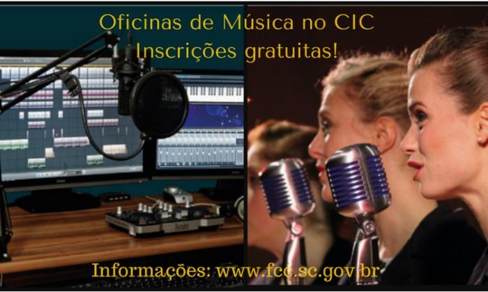 Inscrições para oficinas gratuitas de Arranjo Vocal e Softwares de Produção Musical