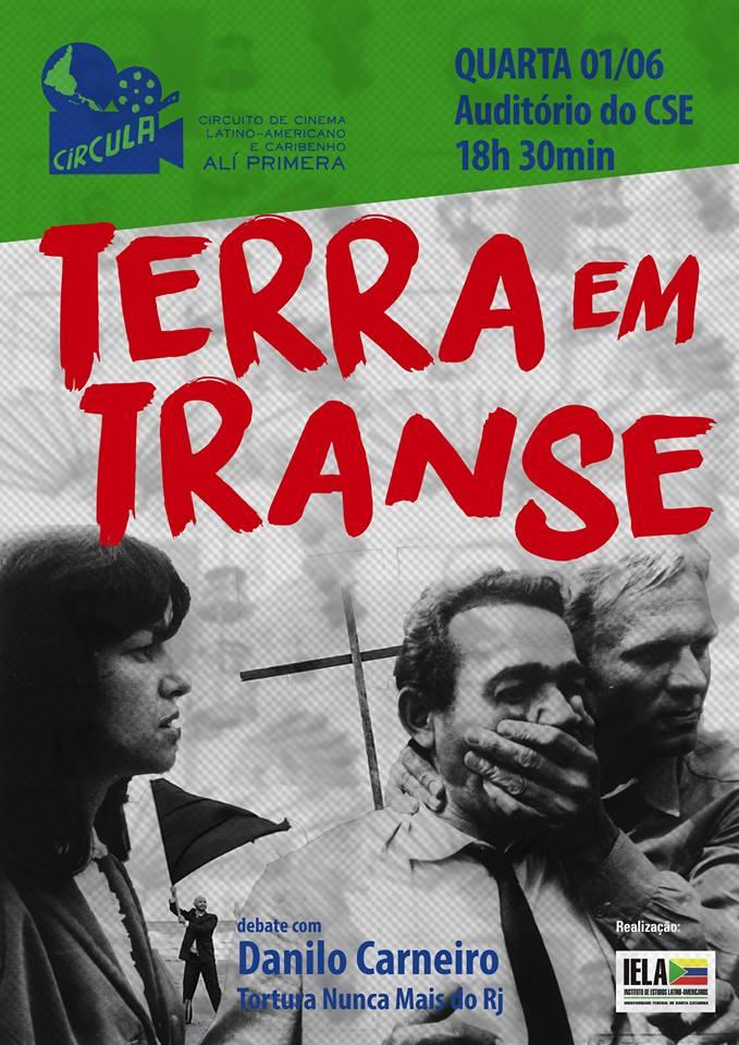 "Circula exibe filme brasileiro ""Terra em Transe"""
