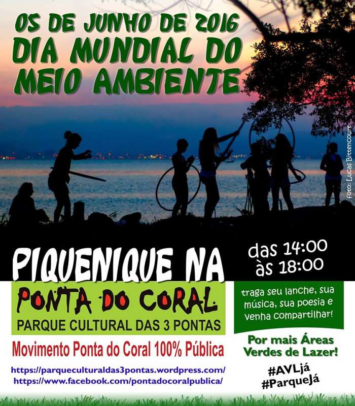 Piquenique na Ponta do Coral no Dia Mundial do Meio Ambiente
