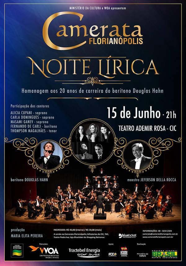 Camerata Florianópolis apresenta Noite Lírica em homenagem ao barítono Douglas Hahn