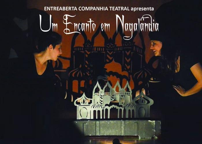 """Espetáculo infantil de teatro de sombras """"Um Encanto em Nagalândia"""" da EntreAberta Cia Teatral"""