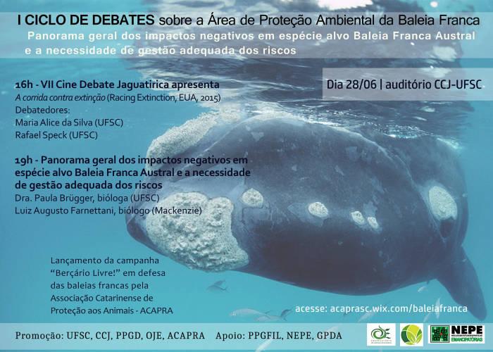 Ciclo de Debates sobre Área de Proteção Ambiental (APA) da Baleia-Franca