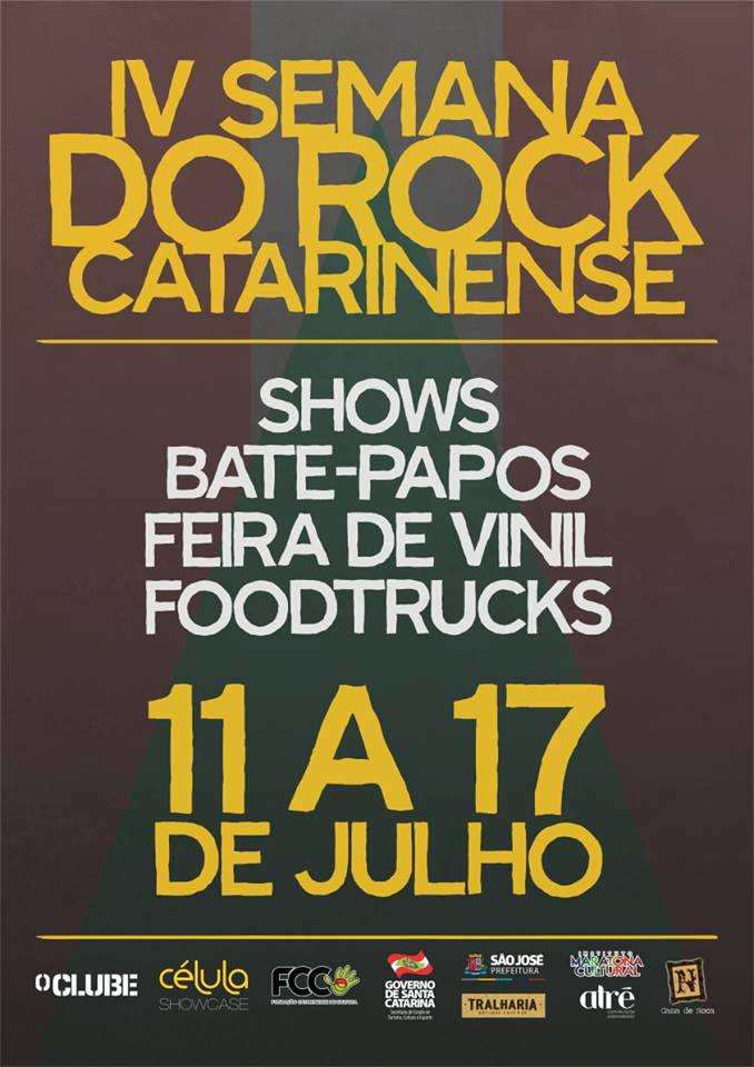 IV Semana do Rock Catarinense terá shows gratuitos nas ruas com 15 bandas