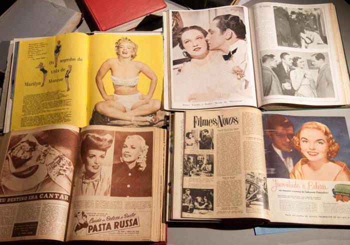 Exposição Revistas de Cinema