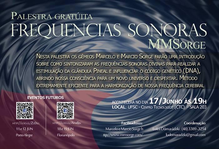 Palestra Gratuita sobre Frequências Sonoras MMSorge